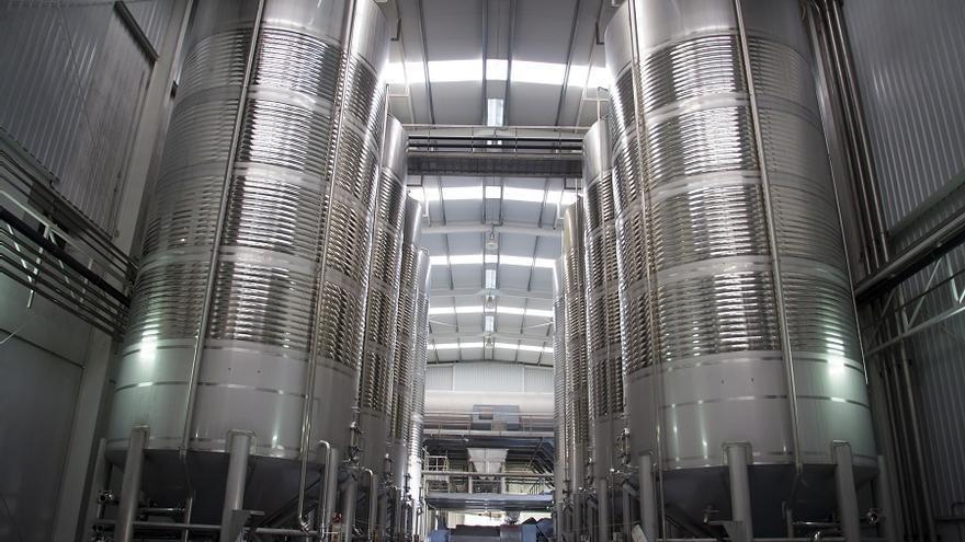 Deposito de vinos. Foto: La Mancha Wines