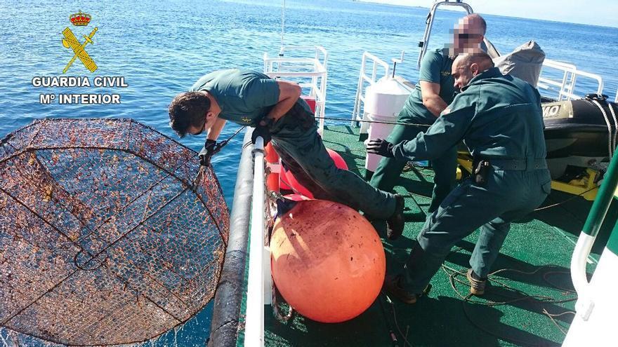 Retiran 30 nasas ilegales de las costas de Gran Canaria, Fuerteventura y Lanzarote en 2015.