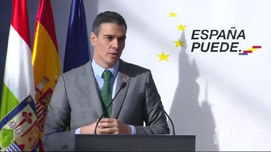 El presidente del Gobierno, Pedro Sánchez, participa en La Rioja en un acto para presentar el Plan de Recuperación, Transformación y Resiliencia