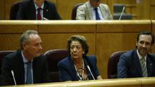 Rita Barberá junto a Alberto Fabra en el Senado