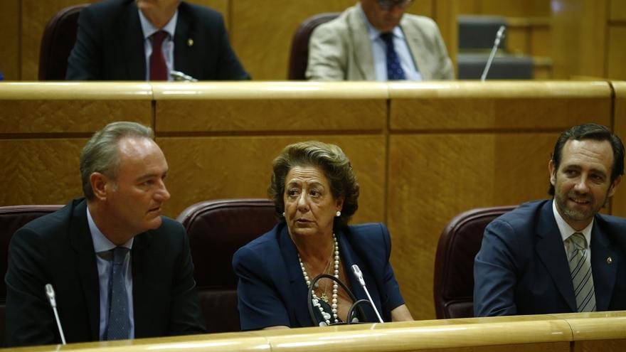 Alberto Fabra, Rita Barberá y José Ramón Bauzá: algunos de los senadores del PP que podrán retrasar la aprobación de leyes en esta legislatura.