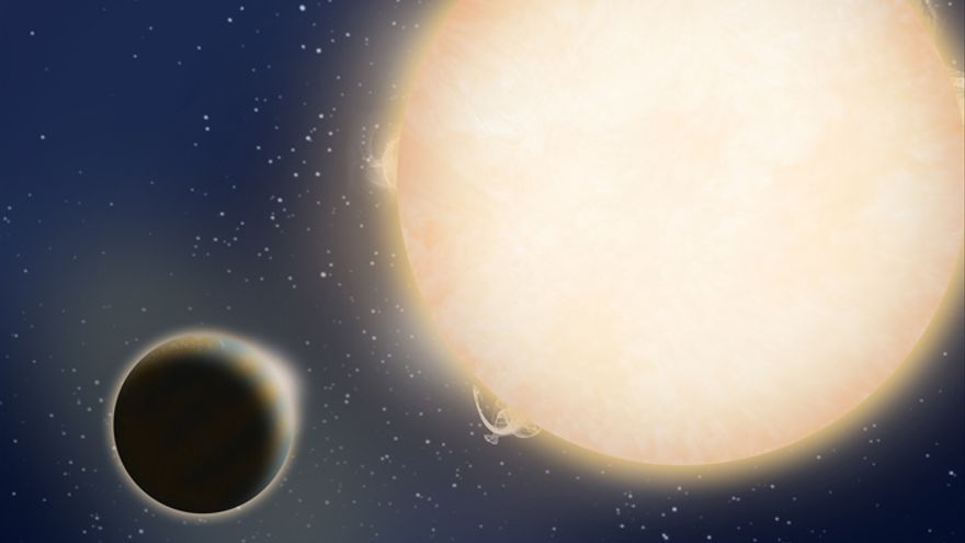 Imagen artística de cómo podemos imaginar el nuevo sistema planetario (Crédito: Avet Harutyunyan/TNG),
