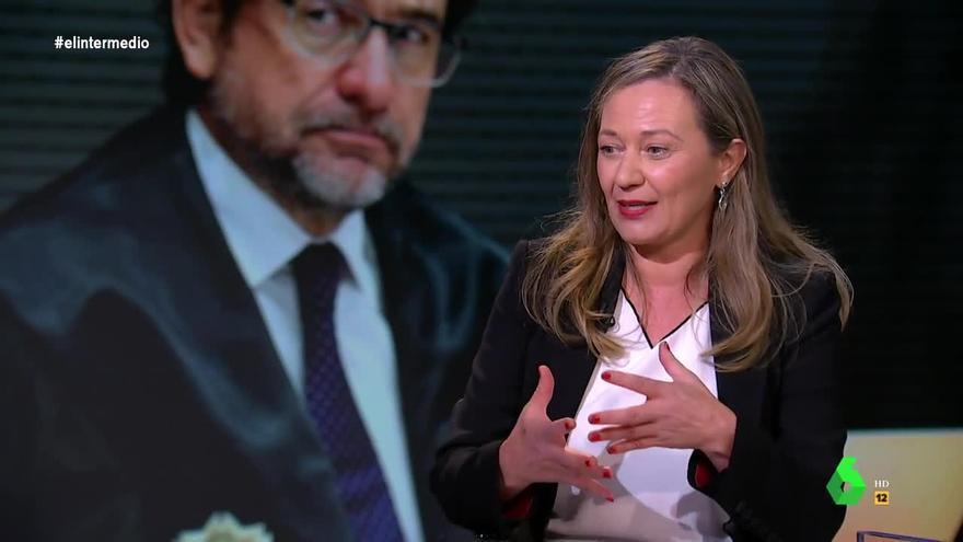 La diputada de Unidas Podemos en el Congreso Victoria Rosell habla en el programa 'El Intermedio' sobre la condena al juez Salvador Alba por conspirar contra ella.