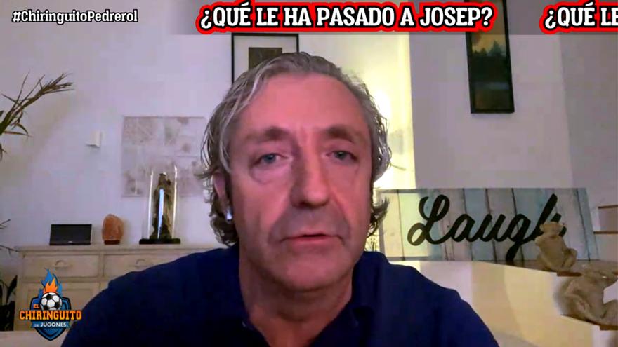 Josep Pedrerol conectó con 'El Chiringuito' desde su domicilio