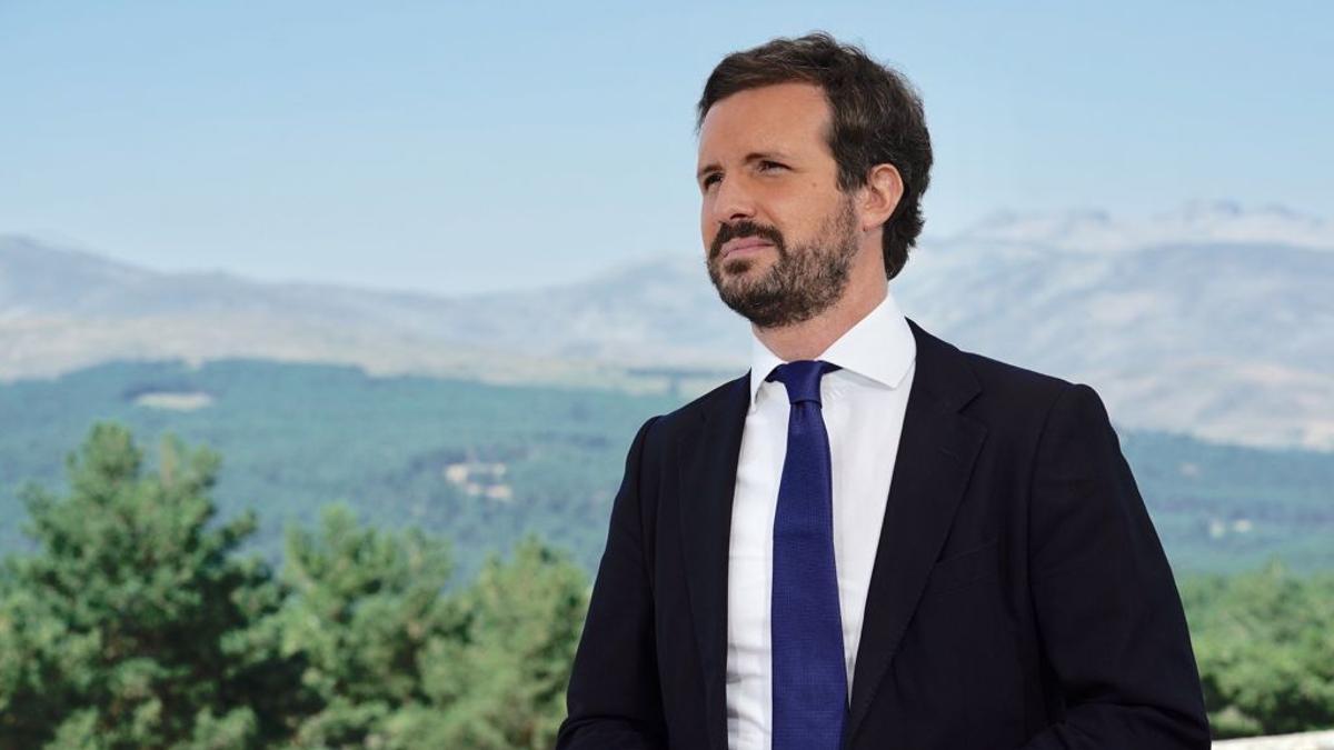 El líder del PP, Pablo Casado, el pasado miércoles, en Gredos (Ávila).