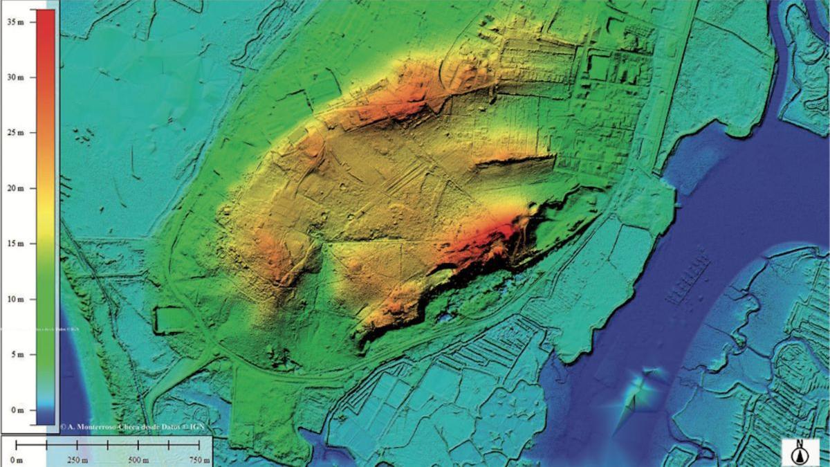 Islas suroeste de San Fernando en la topografía actual.
