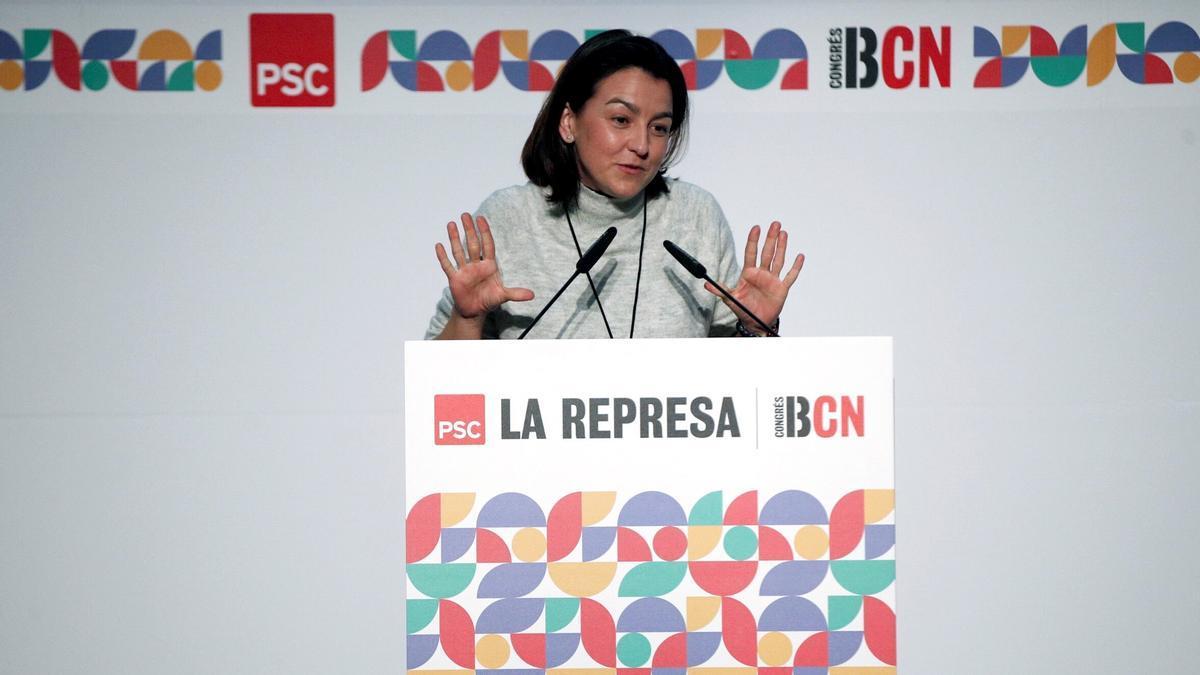 La número dos de los socialistas catalanes, Eva Granados. EFE/Alejandro García/Archivo