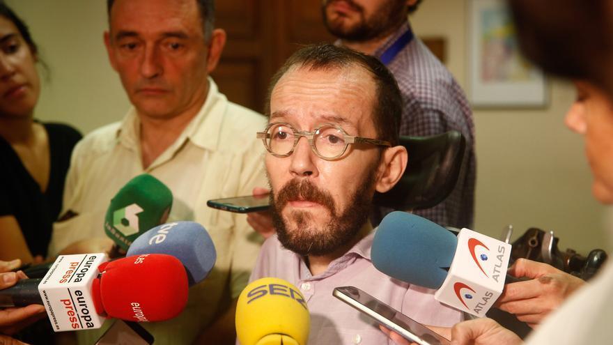 """Echenique no descarta retomar la negociación hoy o el fin de semana, en cuanto el PSOE levante su """"línea roja"""""""