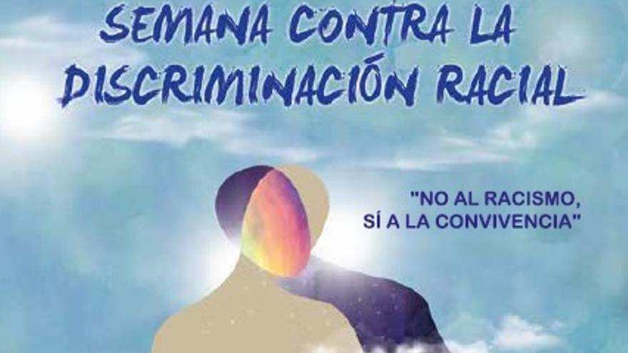 Cartel de la Semana contra la discriminación racial 2019 del Ayuntamiento de Zaragoza.