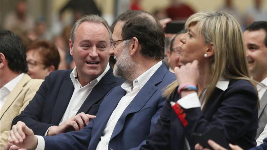 Alberto Fabra, presidente de la Generalitat, con Mariano Rajoy.