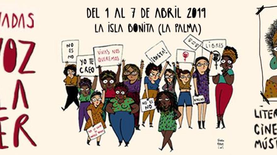 Cartel de las cuartas jornadas 'La voz de la mujer'.