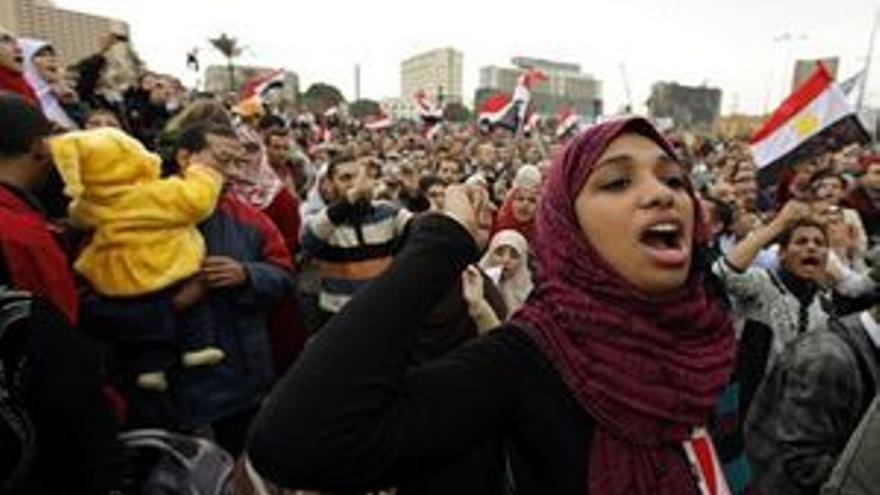 Manifestantes en El Cairo. (EP)