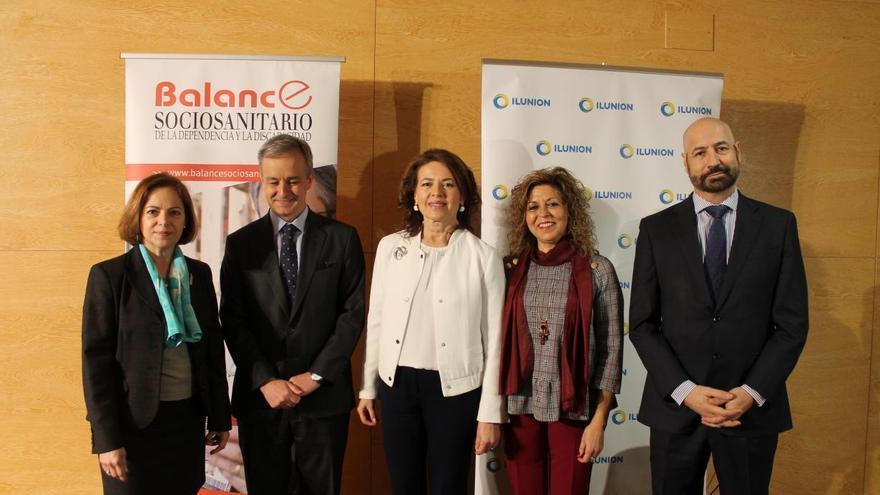 La consejera de Bienestar Social,hoy, en Albacete