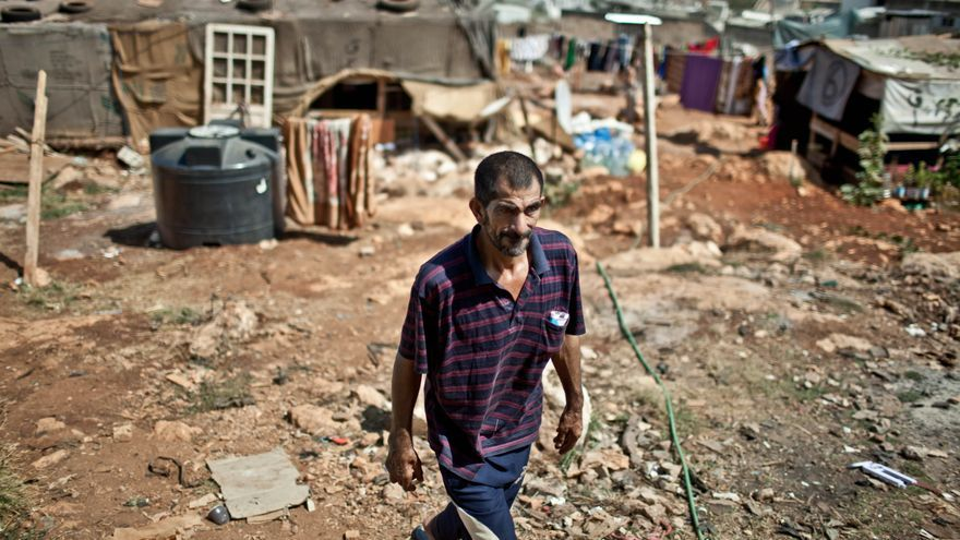 Campamentos de refugiados improvisados instalados a las afueras de las ciudades en el Líbano. / Fotografía: Pablo Tosco/ Intermón Oxfam.
