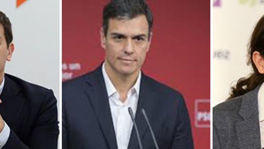 Casado, Rivera, Sánchez, Iglesias y Garzón