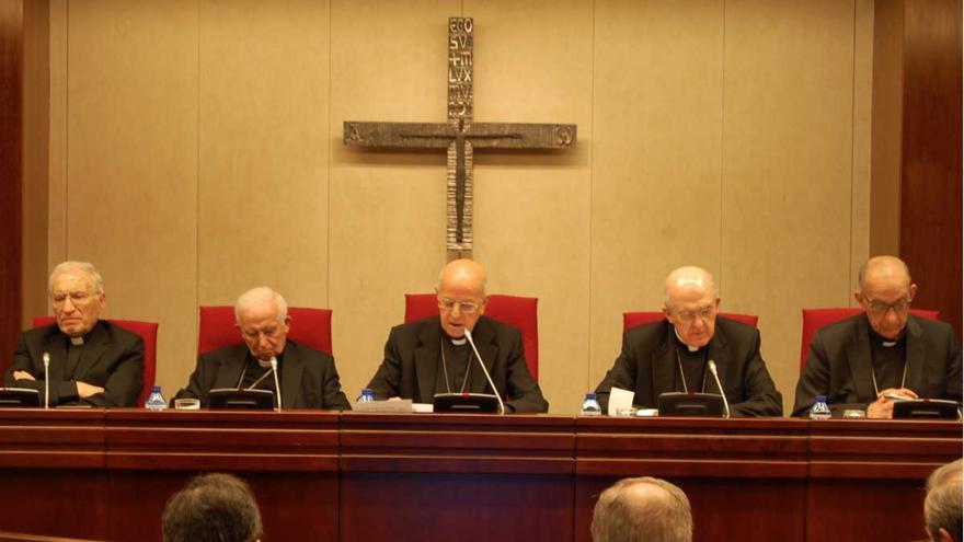 Los obispos reunidos en la Plenaria de la Conferencia Episcopal, este lunes.