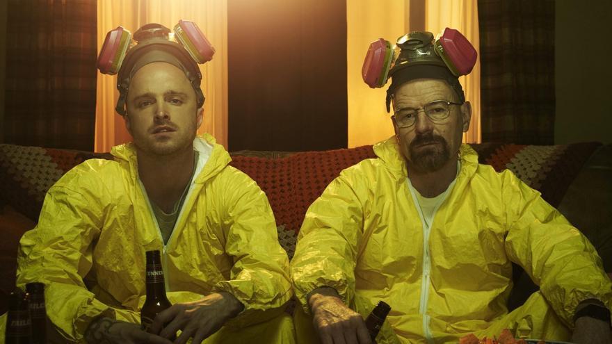 Jesse Pinkman y Walter White, personajes de la serie norteamericana Breaking Bad.