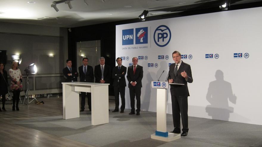 Rajoy apoyará eliminar la Transitoria Cuarta, que prevé incorporar Navarra a Euskadi, si hay reforma constitucional