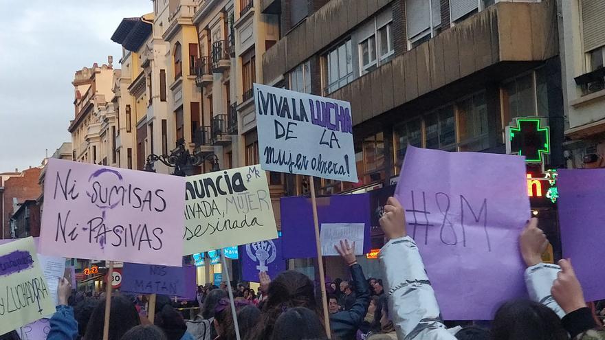 Manifestación del 8M en León