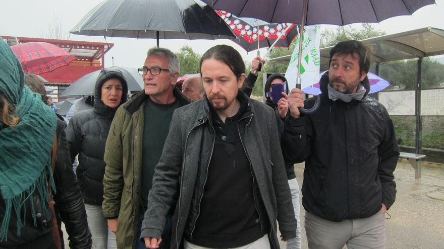 """Pablo Iglesias, sobre Murcia: """"Cs sigue sosteniendo al Gobierno y el PP sigue protegiendo a los corruptos"""""""
