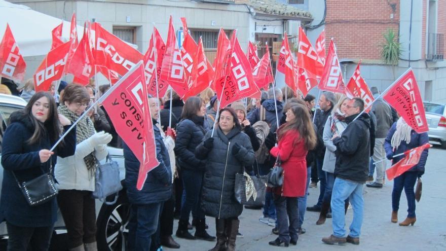 Protestas días atrás de las empleadas de Raspeig
