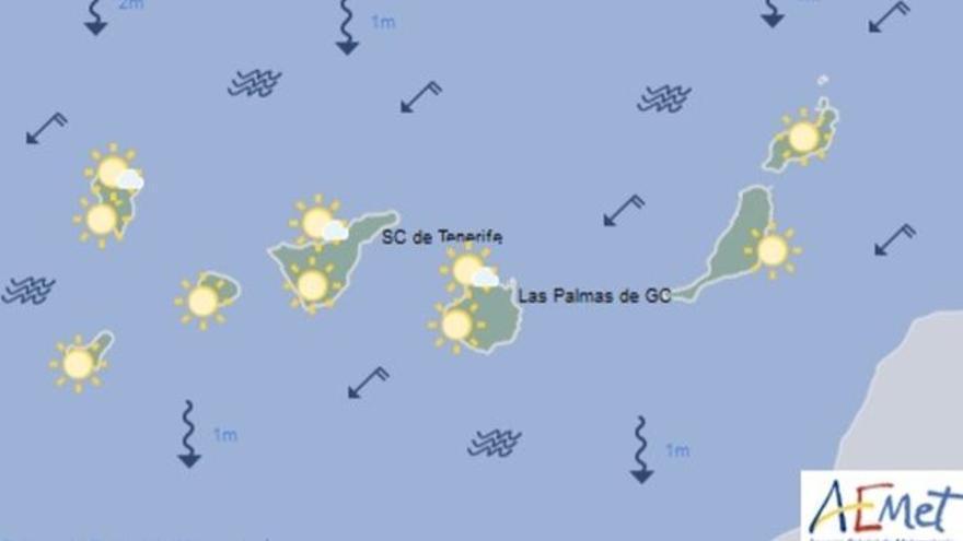 Mapa con la previsión del tiempo para este lunes, 26 de junio de 2017