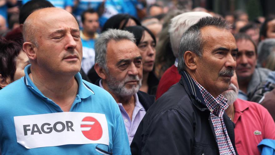 Una manifestación de trabajadores de Fagor Electrodomésticos en los comienzos de la crisis de la cooperativa.