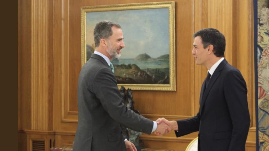 El rey Felipe VI recibe a Pedro Sánchez en Zarzuela