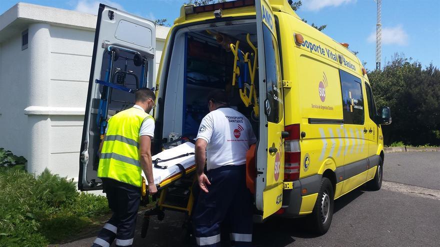 Personal del Servicio de Urgencias Canario.