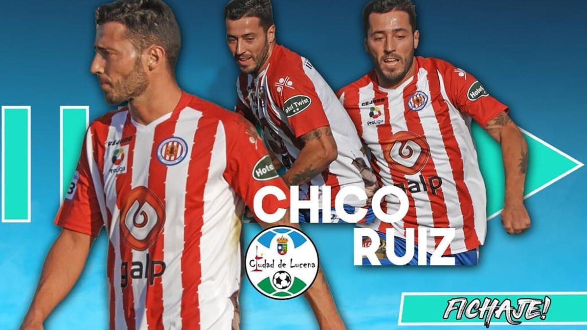 Chico Ruiz, nuevo jugador del Ciudad de Lucena.