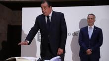 Blas Trujillo, nuevo consejero de Sanidad del Gobierno de Canarias, este lunes, en su toma de posesión.