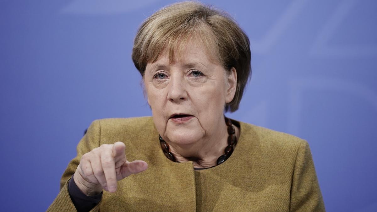 La canciller alemana, Angela Merkel, en una rueda de prensa en una imagen de archivo.