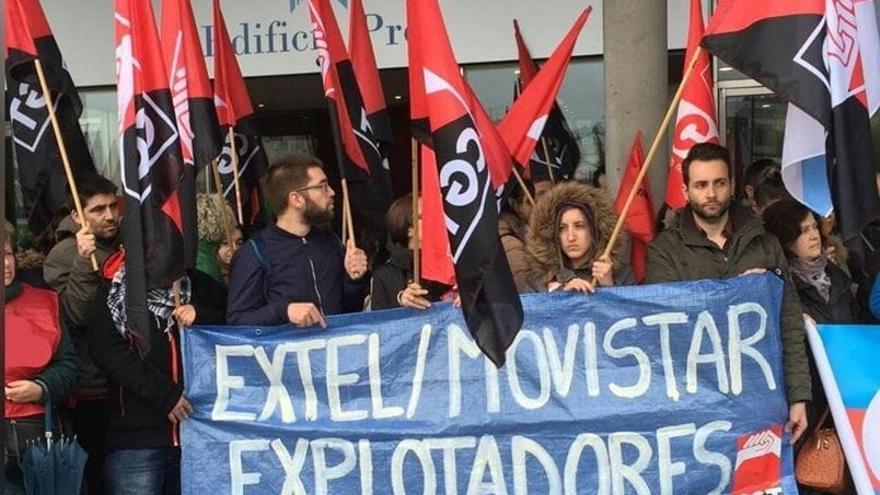 Movilización de personal de Extel en A Coruña