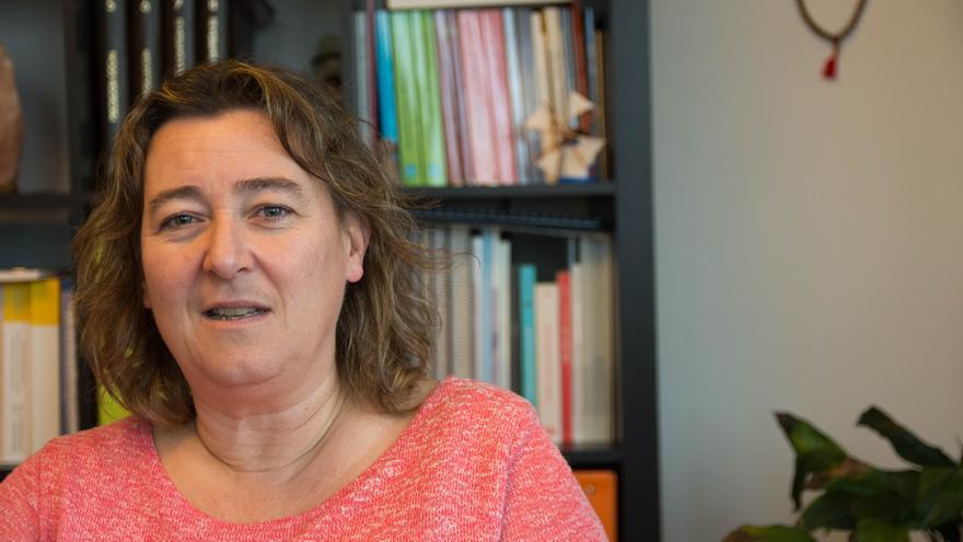 La psicóloga Juana Armendáriz, del Servicio Social de Justicia del Gobierno de Navarra.