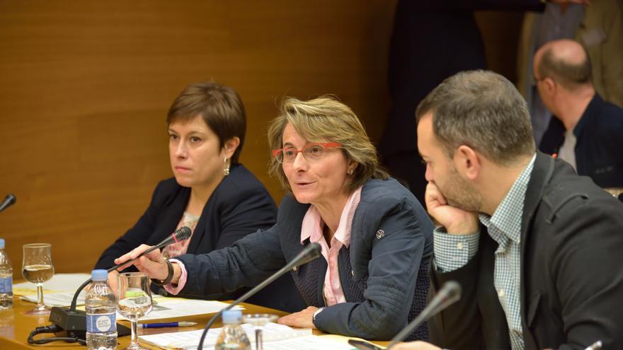 Eva Alcón, en una comisión de las Corts Valencianes