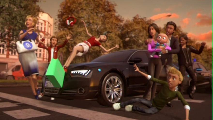 Siete y Nueve mueren atropelladas en el vídeo con el que Mediaset anuncia el fin de sus emisiones / Mediaset