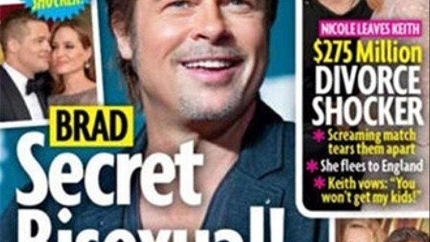 La revista Star saca del armario a Brad Pitt y lo hace TT