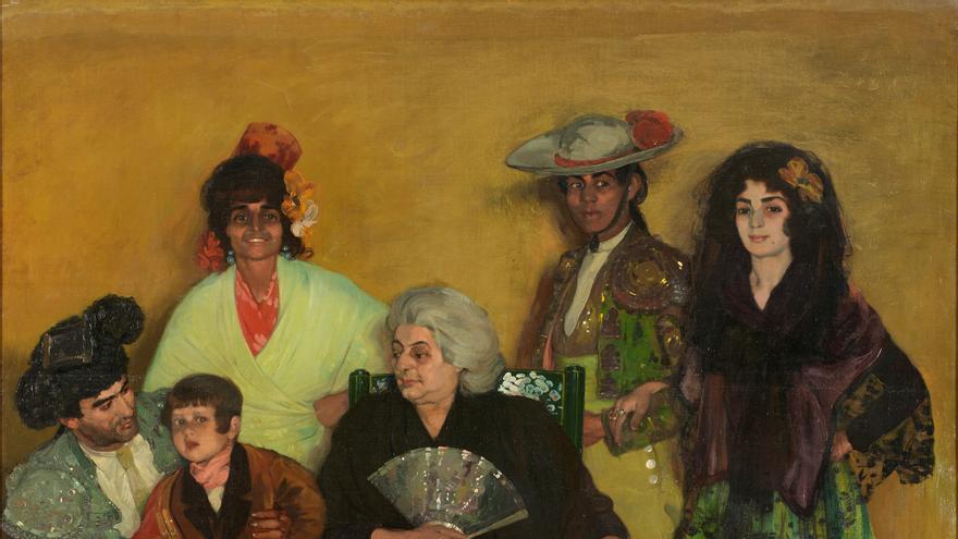 C:\fakepath\La familia del torero gitano. Zuloaga. Óleo sobre lienzo, 1903.jpg