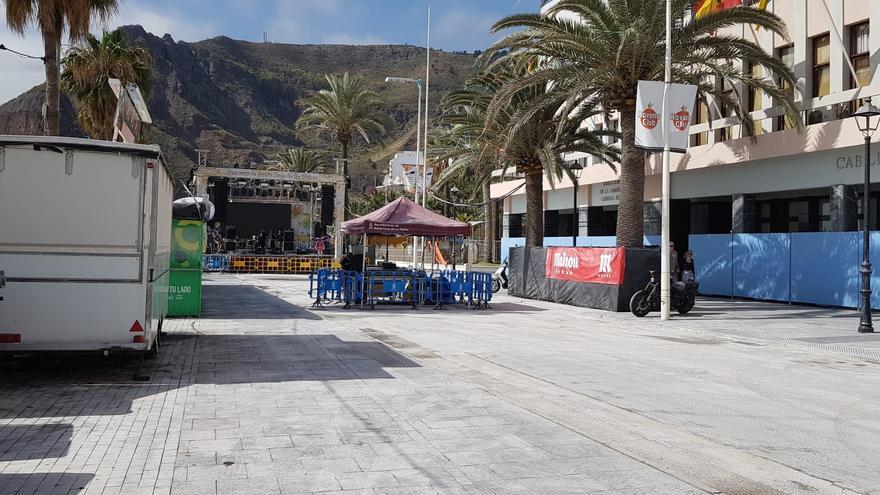 Tramo de la Avenida Marítima ocupado por el Recinto Central del Carnaval.