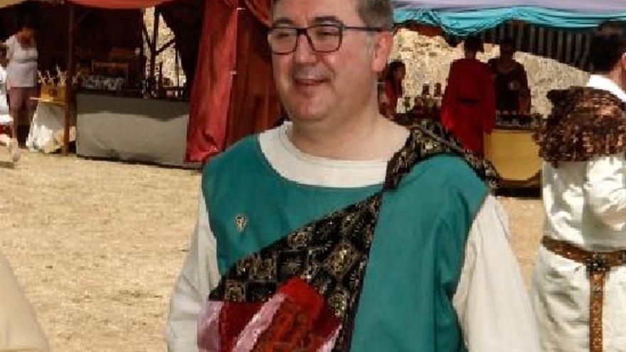 Marcial Marín, durante su nombramiento como Caballero Visigodo / Foto: JCCM