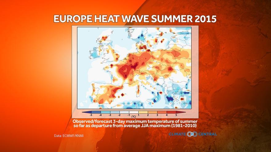 Mapa de temperaturas en Europa / Climate Change
