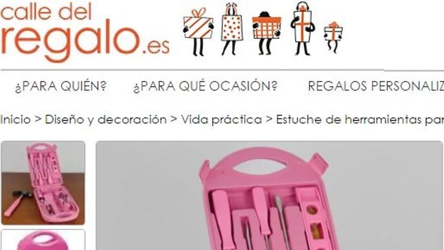 Si compras herramientas para las niñas, que sean rosas.