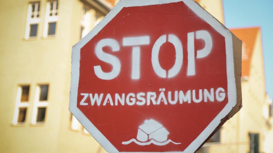 Los carteles utilizados por la Plataforma alemana son iguales a los usados por la PAH / Björn Kietzmann