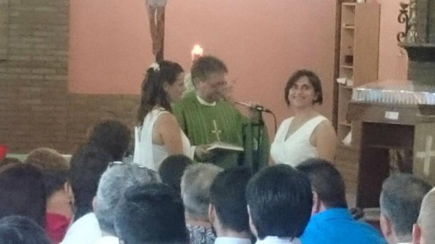 Imagen de la ceremonia celebrada en la parroquia de Sant Bartomeu
