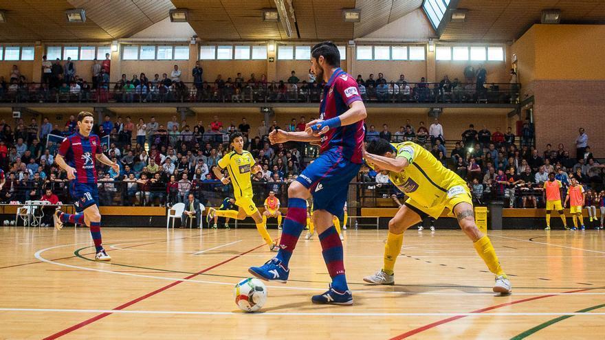 Imagen del encuentro entre el Levante y el Gran Canaria FS en Valencia.