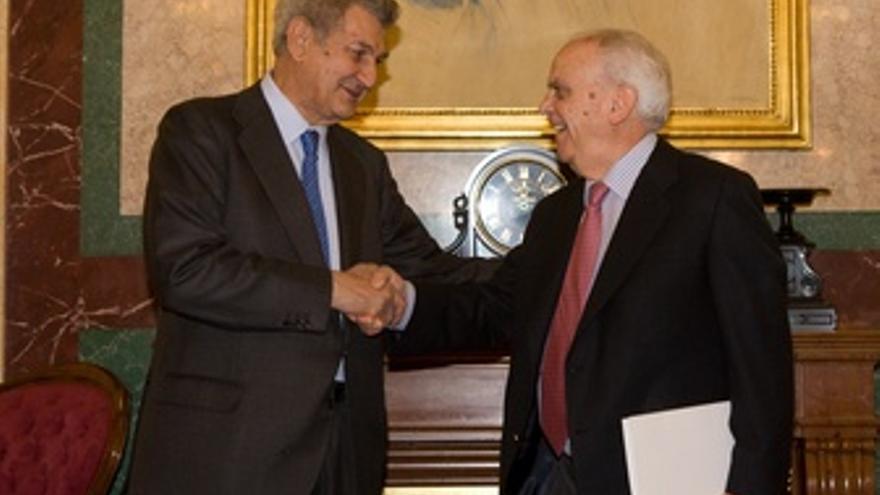 Jesús Posada Y El Presidente Del Tribunal De Cuentas,Manuel Núñez En El Congreso