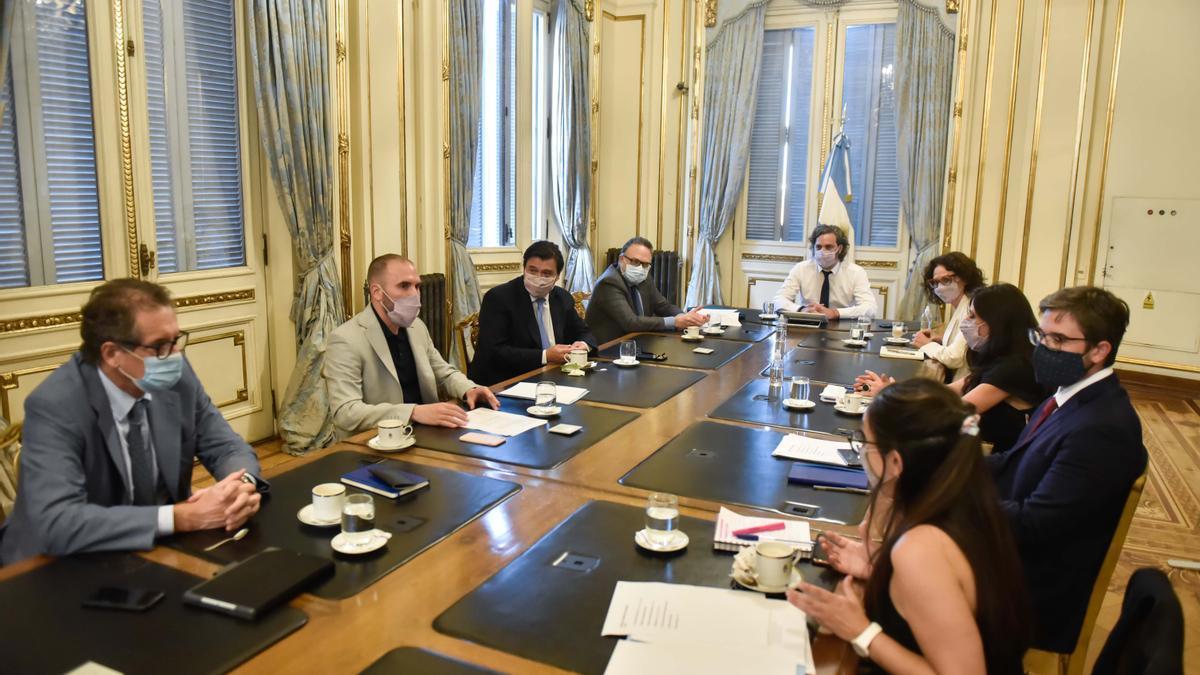 El gabinete económico se reunió en el Salón Norte de la Casa Rosada