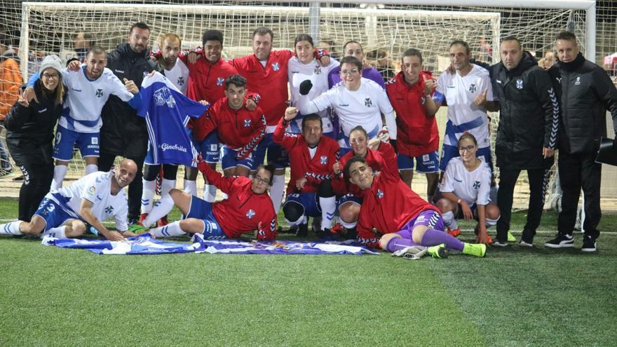 El CD Tenerife EDI en la primera fase del torneo celebrado en noviembre en Tarragona.