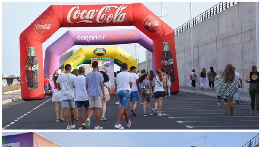 Imágenes de archivo del paseo social del Love Festival.