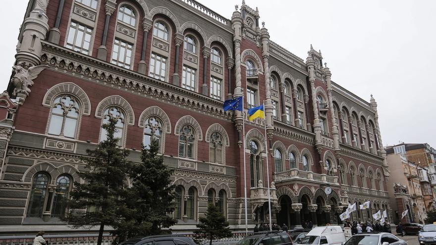En la imagen, el Banco Nacional de Ucrania en Kiev.